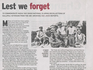 Herald review of 'Stories from Gallipoli'