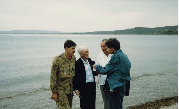 Steve Sailah interviewing Jack Ryan on Anzac Cove 1990