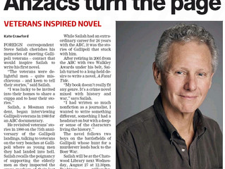 """Anzacs turn the page"", Mosman Daily, 21st August 2014"