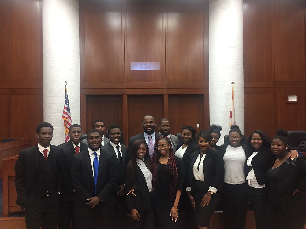 Attorney Murray and Attorney Gilot with the Mock Trial Fundamental Competitors