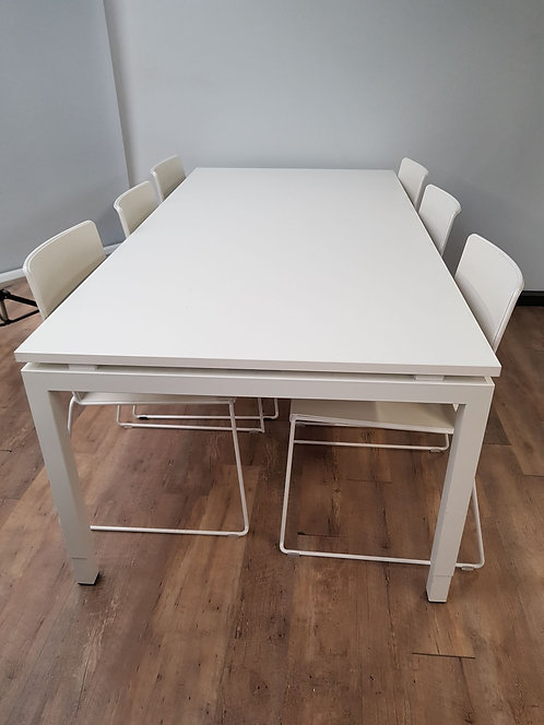 Vergadertafel 200x100 cm (Wit)