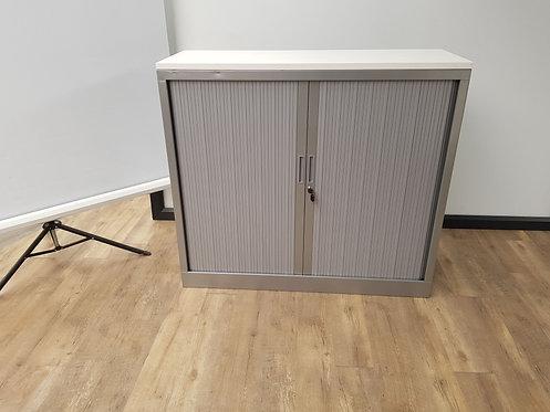 Roldeurkast 105x120 (Aluminium) met topblad