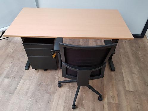 Bureau 160x80 Beuken/zwart