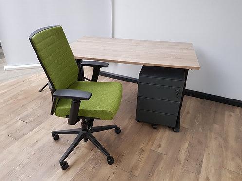 Design bureaustoel wolvilt (Groen)