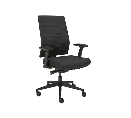 Bureaustoel Luxe (Zwarte stof)