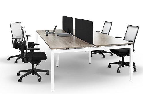 Bench bureau (voor 4 werkplekken)