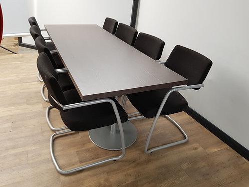 Vergadertafel 80x220 cm (donker eiken)