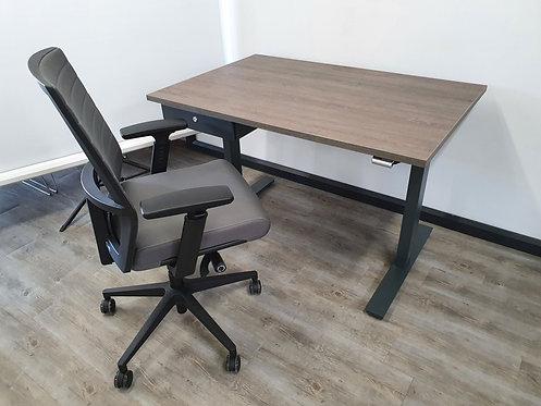 Thuiswerkplek zit-sta bureau + bureaustoel + persoonlijke laden