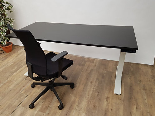 zit sta bureau 180 professional wit zwart