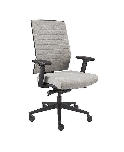 Design bureaustoel Luxe wolvilt (Licht grijs)