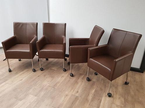 Verrijdbare stoelen (Set van 4)