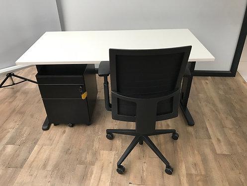 Bureau 160x80 Wit/zwart