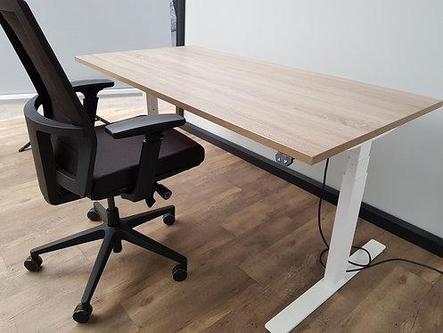 Elektrisch verstelbaar zit/sta bureau (Wit)