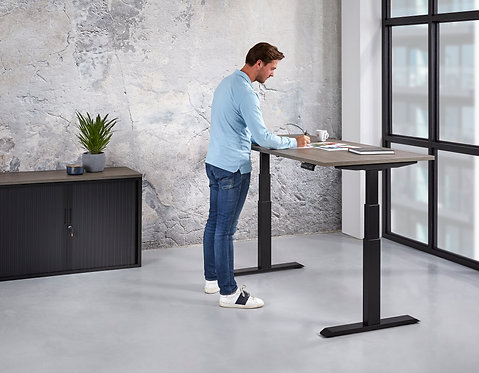 Basic zit sta bureau elektrisch verstelbaar (120x80)