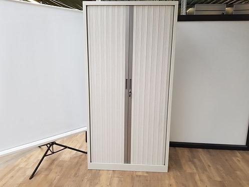 Roldeurkast 198x100 (licht grijs/aluminium)