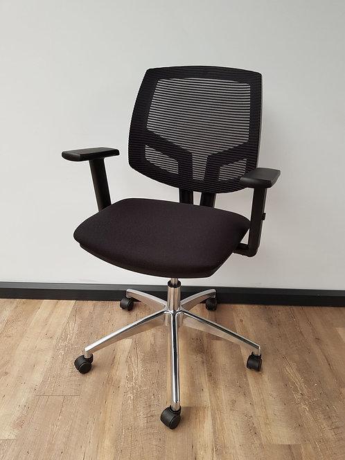 Bureaustoel comfort chrome