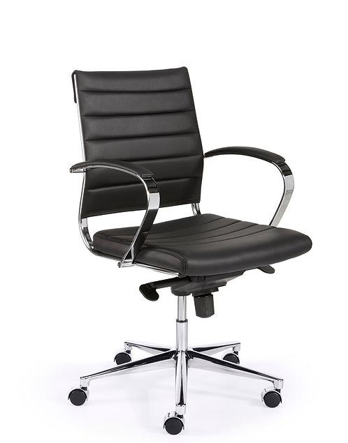 Manager bureaustoel leer (lage rug)