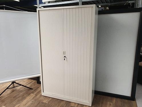 Roldeurkast 198x120 Wit dubbel slot