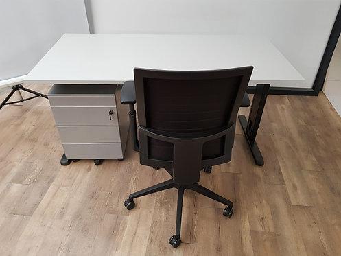 Bureau 160x80 Grijs/zwart