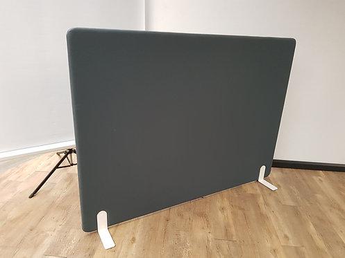Akoestisch scherm stof antraciet grijs