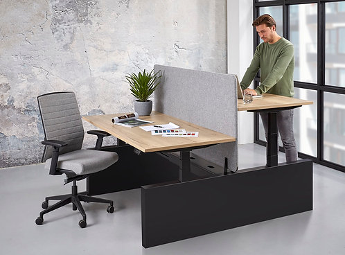 Duo zit/sta bureau elektrisch verstelbaar (160x80)