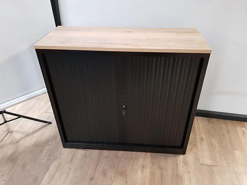 Roldeurkast 105 (Zwart) m dubbel slot