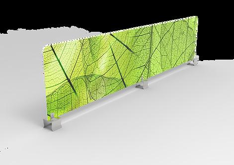 Hygiëne opzet scherm voor akoestisch paneel (PVC)