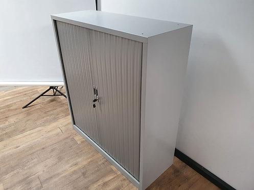 Roldeurkast aluminium 135 hoog dubbel slot