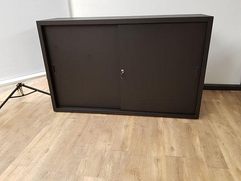 Schuifdeurkast Zwart (100x160)