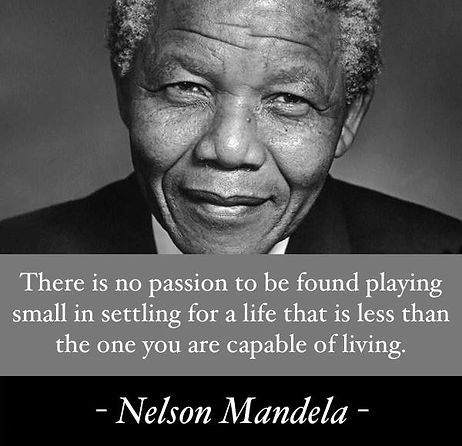 nelson mandela quote on Linda Stephens-Jones Life Coaching