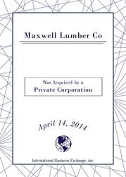 Maxwell Lumber Co.