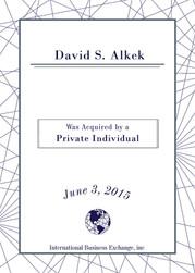 David S. Alkek, MD