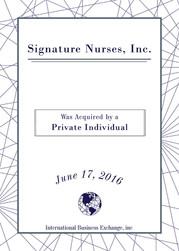 Signature Nurses, Inc.