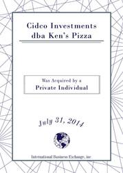 Cidco Investments dba Ken's Pizza