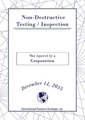 Non-Destructive Testing / Inspection
