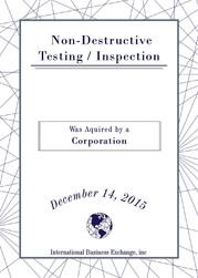 Non-Destructive Testing / Inspection
