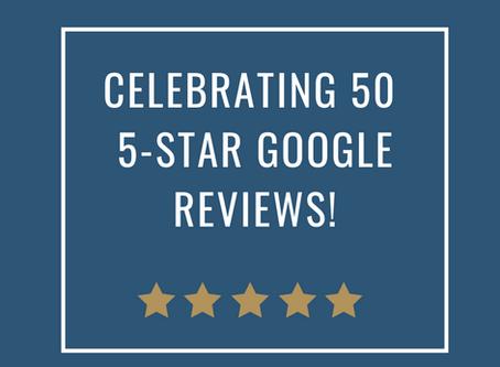 50 5-Star Google Reviews