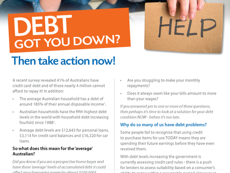 Debt got you down?