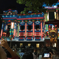Melbourne Town Hall Light Show