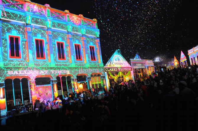 Sovereign Hill's Winter Wonderlights