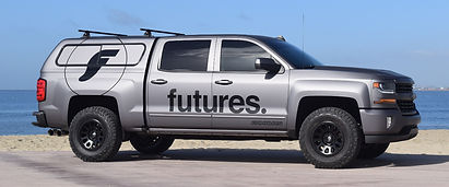Matte Charcoal Chevy Truck Wrap with Gloss Logos