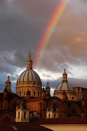Cuenca Ecuador | Iglesias | arco iris
