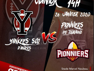 U19 National J2 : Yankees 15-4 Pionniers