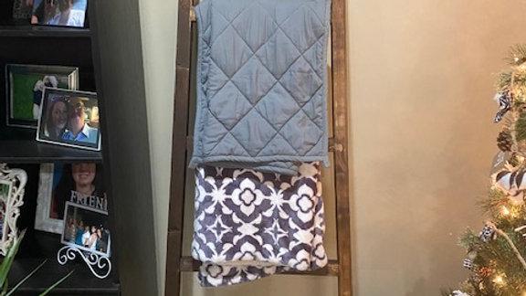 Blanket Rack (stained Dark Walnut)