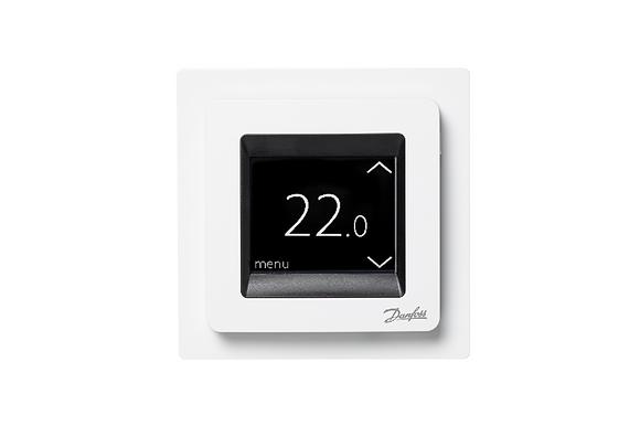 Termostatas  ECtemp™ Touch - balta spalva, 16A/230VAC . Komplektuojamas su grin
