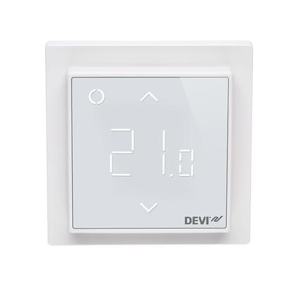 Termostatas DEVIreg™ Smart WiFi poliarinis baltas, +5...+45 °C, grindų+patalpos jutiklis, 16 A