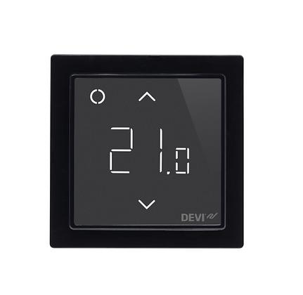 Termostatas DEVIreg™ Smart WiFi juodas, +5...+45 °C, grindų+patalpos jutiklis, 16 A