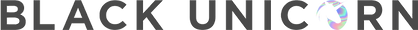 Black Unicorn Black Hologram Full Logo - Julija Jegorova.png