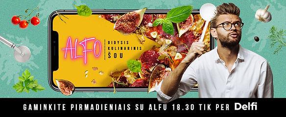 Alfo didysis kulinarinis šou. Gaminkite su Alfu Ivanausku
