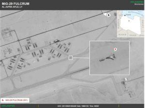 """JAV atskleidė slaptą Rusijos kovinių karo lėktuvų """"MiG-29"""", """"Su-35"""" ir """"Su-24"""" perkėlimą į Libiją"""